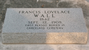 Francis Wall headstone