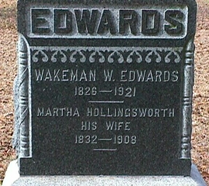 W. W. Edwards tombstone in Graceland Cemetery